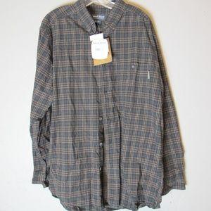 Woolrich Button down plaid shirt NWT L